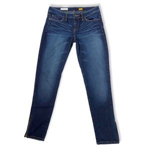 Anthro - pilcro straight jeans w zipper ankle